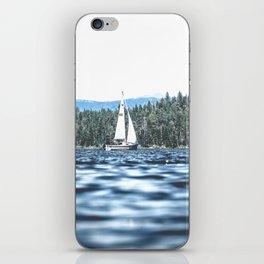 Calm Lake Sailboat iPhone Skin