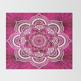 Mandala Hot Pink Colorburst Throw Blanket
