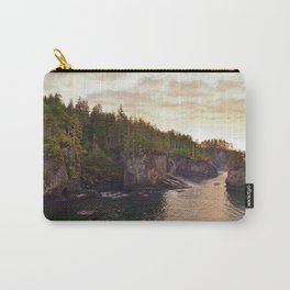Sunset at Cape Flattery, Washington, Olympic Peninsula, Monolith, Pacific Ocean, Islands Carry-All Pouch