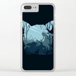 Blue Mono Ashi Clear iPhone Case
