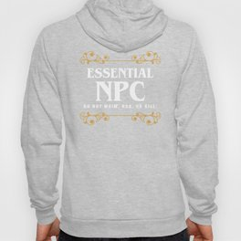 DnD Essential NPC Dungeons and Dragons Inspired Tabletop RPG Gaming Hoody