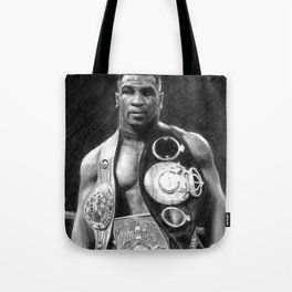 Mike Tyson Pencil Drawing Tote Bag