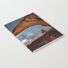 Natural Bridge and the Milky Way in Utah Notebook