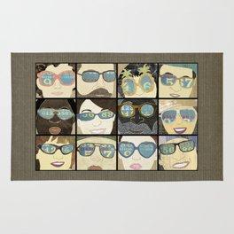 Glasses Vertical Rug