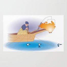 Japanese Cormorant fishing Rug