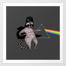 The Dark Side Of The Racoon Art Print