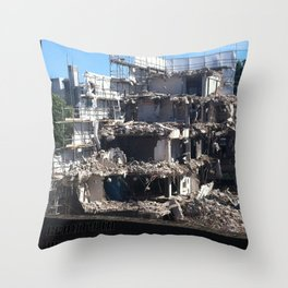 Beauty in Destruction Throw Pillow