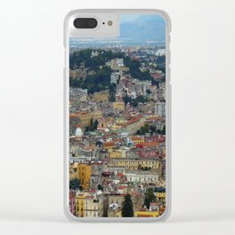Napoli view Clear iPhone Case