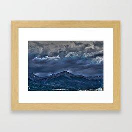 Storms a Commin' Framed Art Print