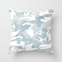 Chambray camo Throw Pillow