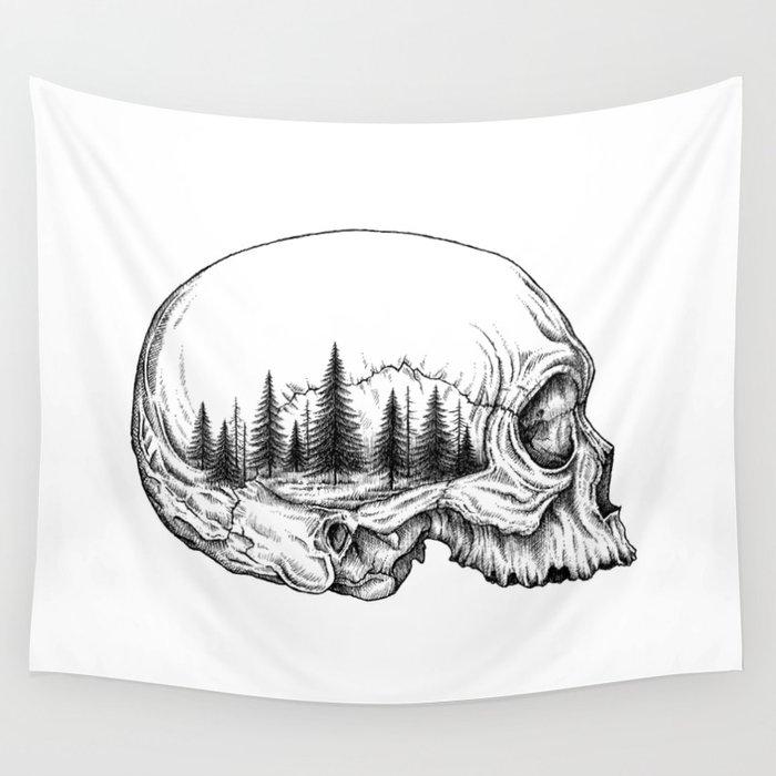 SKULL/FOREST Wall Tapestry