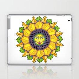 Sunflower Sunshine Girl by Amanda Martinson Laptop & iPad Skin