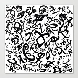 Shadowhunter Runes Canvas Print