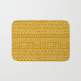 Mud Cloth on Mustard Bath Mat
