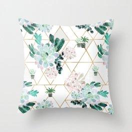 Succulove Throw Pillow