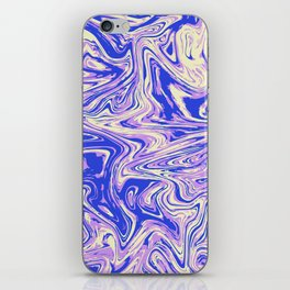 Purple marble with raspberry tint iPhone Skin