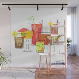 Swanky Summer Coolers Wall Mural