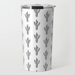 Cactus minimal modern black and white art decor painting trendy hipster southwest desert gifts  Travel Mug