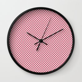Rapture Rose and White Polka Dots Wall Clock