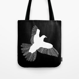 Bird (On Black) Tote Bag