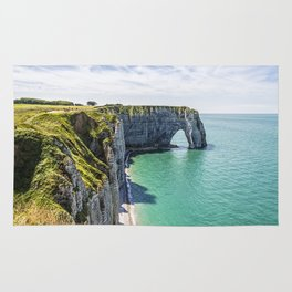 The cliffs of Etretat Rug