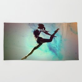 Ballet Dancer Feat Lady Dreams Abstract Art Beach Towel
