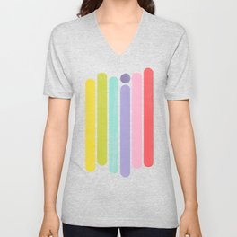 Rainbow Color Stripes Unisex V-Neck