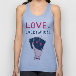 Love is everywhere Unisex Tank Top