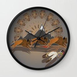 Native American Indian Buffalo Nation Wall Clock