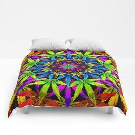 Stoners' Mandala Cannabis Leaves Comforters
