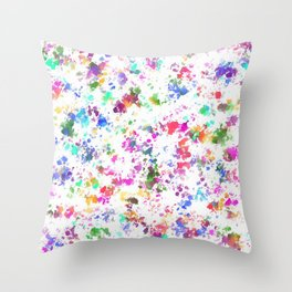Expression of color Throw Pillow