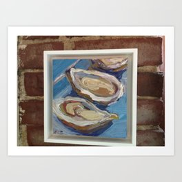 Small Oysters Art Print