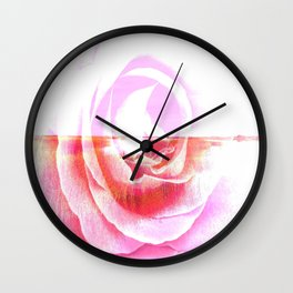 Rose In The Salt Marsh By Annie Zeno  Wall Clock