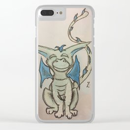 Happy Green Clear iPhone Case