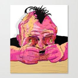Heads Down Thumbs Arghhh!!! Canvas Print