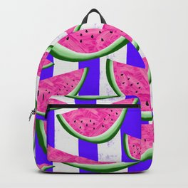 Watermelon Crush on purple stripes Backpack