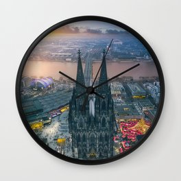 Sunset at the Rhine Wall Clock
