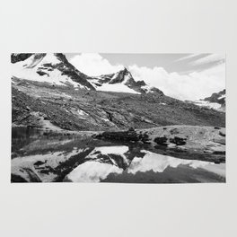 Snowy Mountain Reflection Rug
