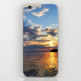 Sunset Over Lake Champlain iPhone Skin