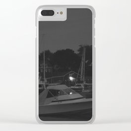 Camden Harbor at Night Clear iPhone Case