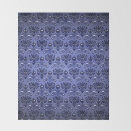 Beauty Haunted Mansion Wallpaper Stretching Room Throw Blanket