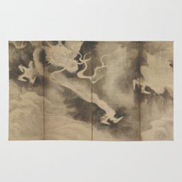 Dragons and Clouds by Tawaraya Sotatsu (俵屋 宗達) Rug