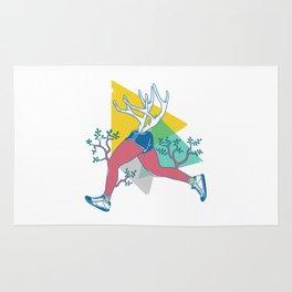 Run like a deer Rug