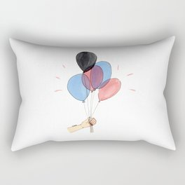 Up with the balloons Rectangular Pillow