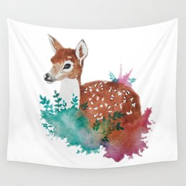 Deer Art Print Wall Tapestry
