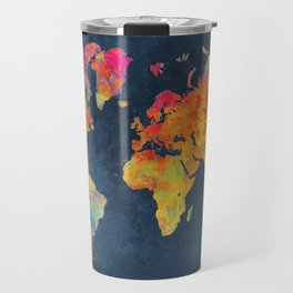World Map blue #world #map Travel Mug