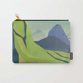 machu picchu travel poster Carry-All Pouch