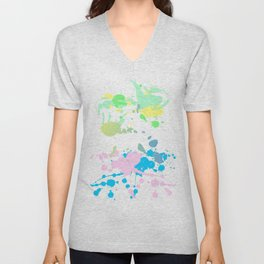 Paint Daubs (2) Unisex V-Neck