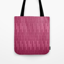 Eye of the Magpie tribal style pattern - raspberry red Tote Bag