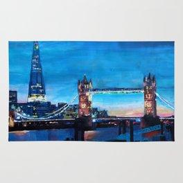 London Tower Bridge and The Shard at Dusk Rug